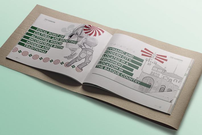diseño editorial, diseño gráfico Araba, presentación, Mundial de Sokatira Getxo 2020