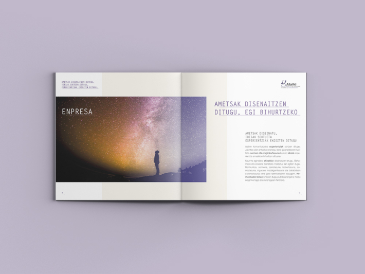 Diseño catálogo imagen, Alaiki, pdf interactivo, Diseño gráfico Araba Álava, diseño editorial