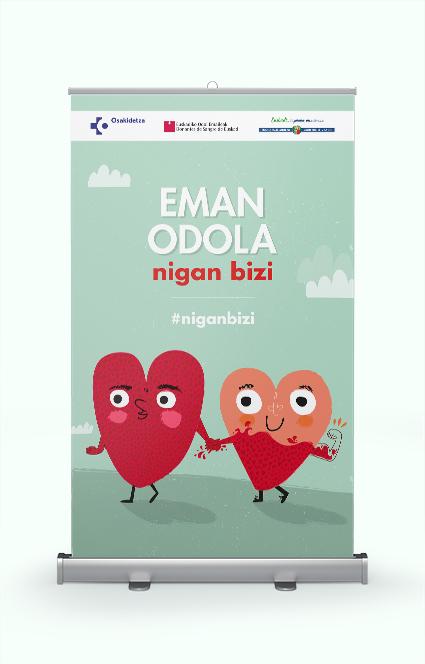 cartel, diseño gráfico, milagrosalurdes, dona sangre, eman odola, #viveenmí, #niganbizi, donantes de sangre de euskadi